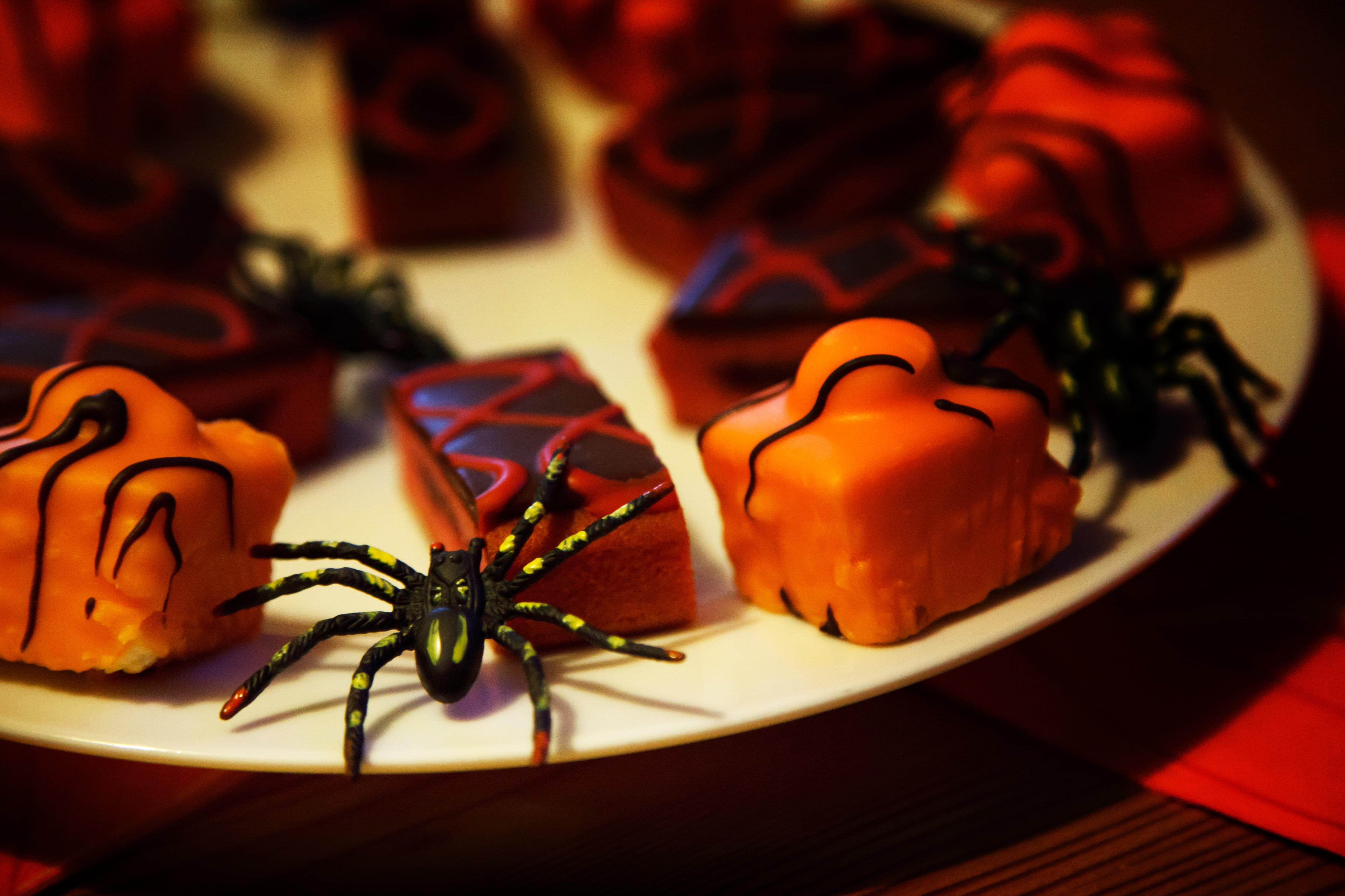 A mesa de Halloween