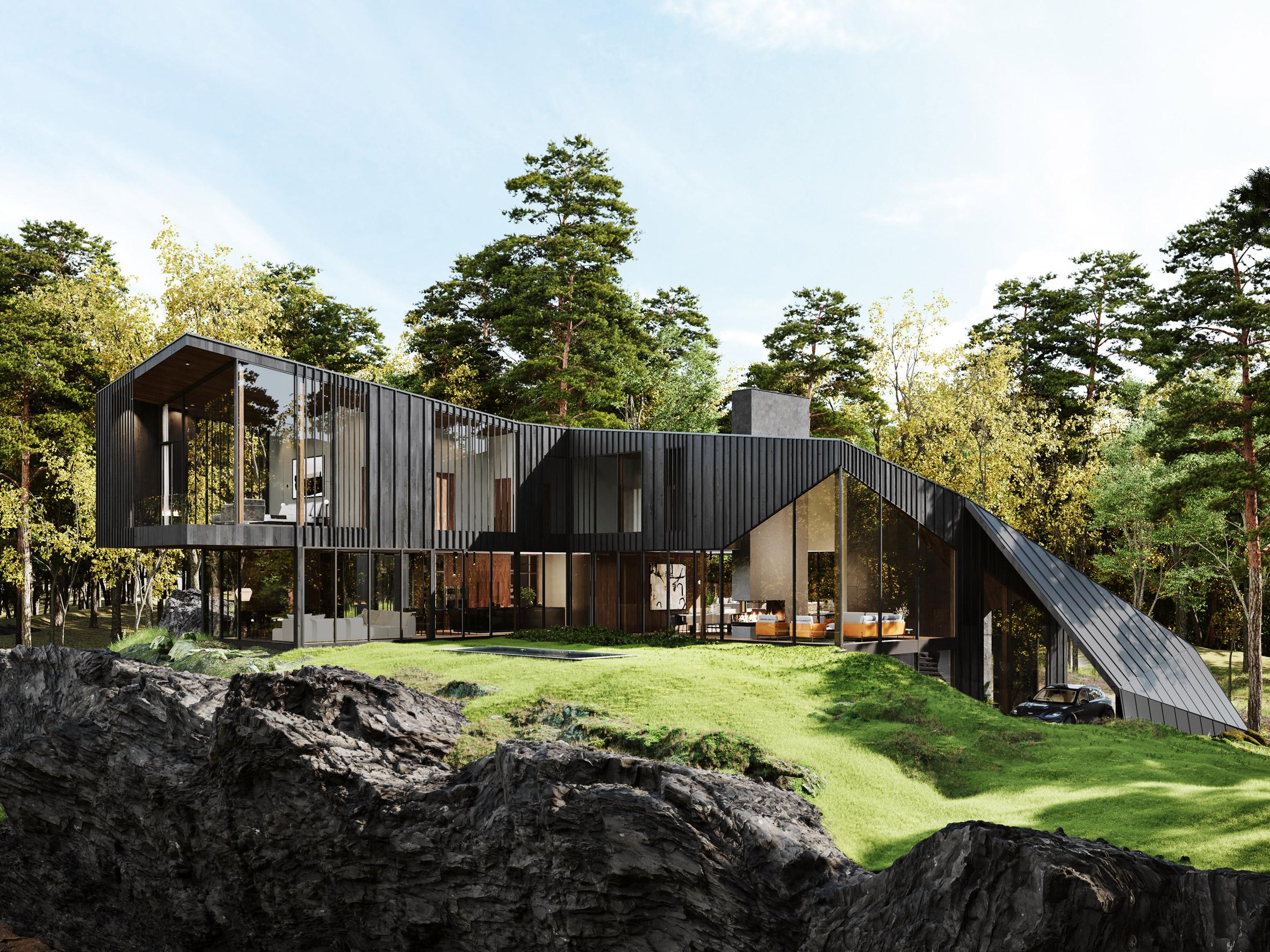 Exterior da casa / S3 Architecture/Corcoran Country Living