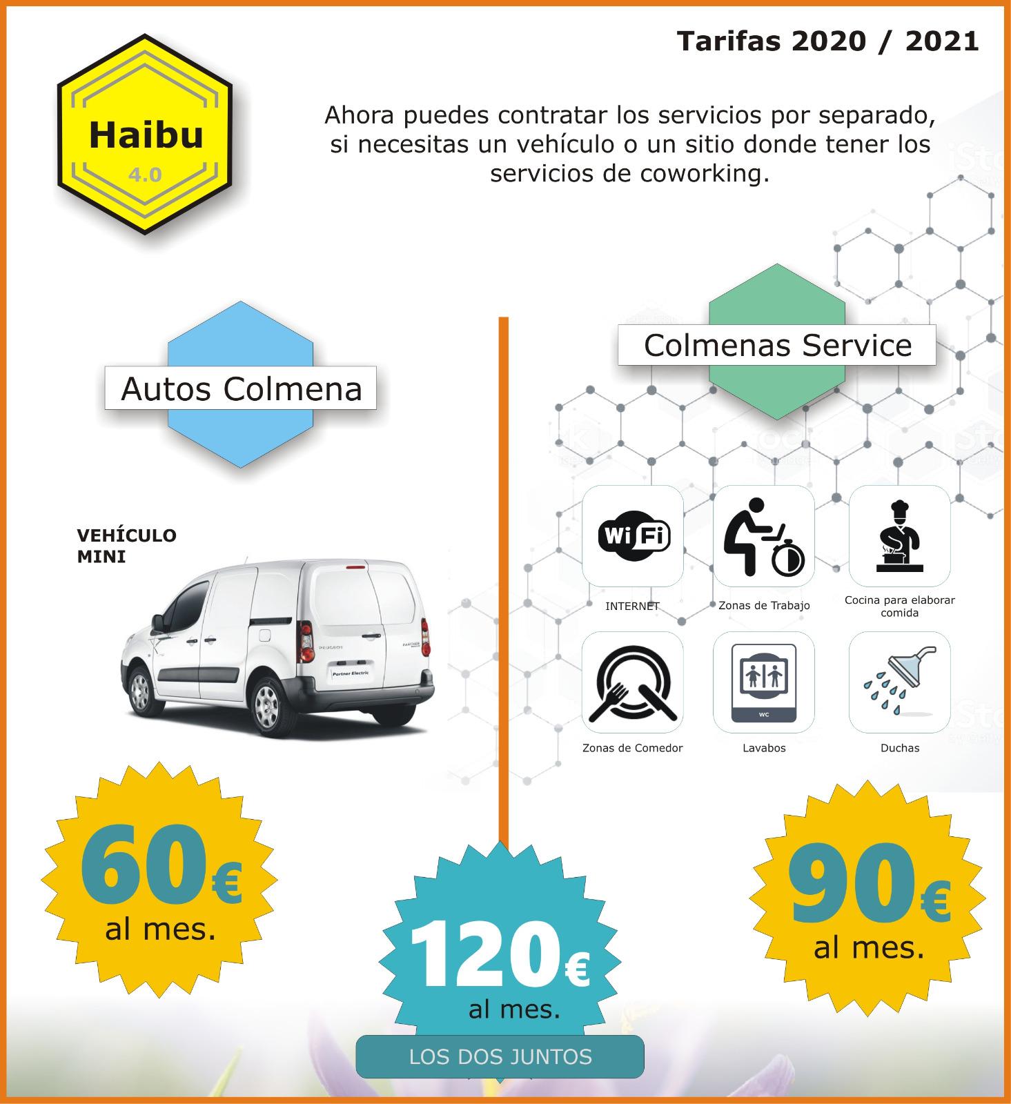 Folheto com os serviços que oferece a Haibu 4.0