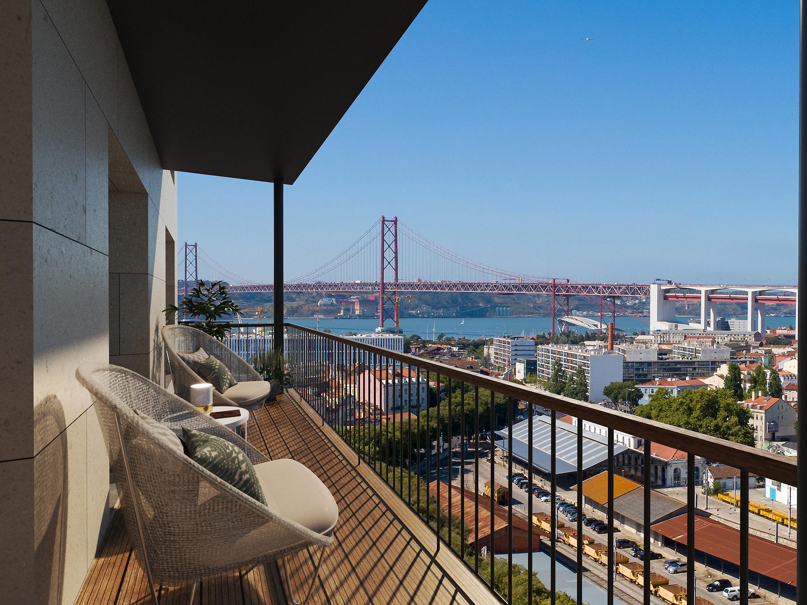 """Projeto residencial  """"Alcântara Vista"""", em Lisboa / Sugee Group"""