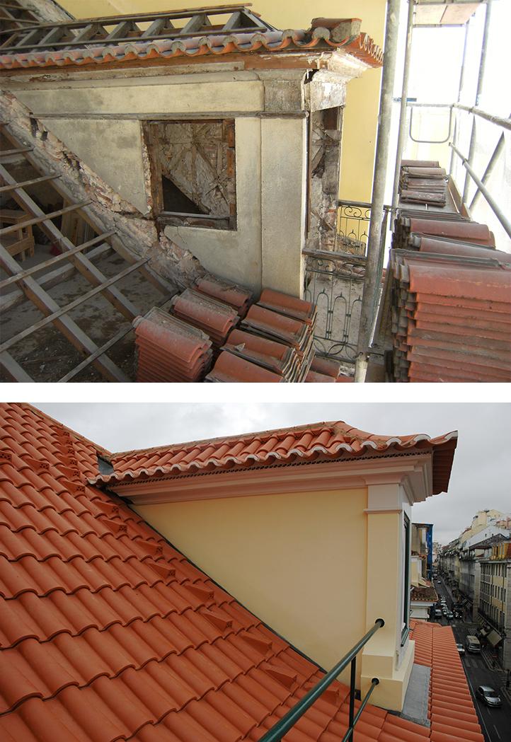Edifício na Rua do Comércio, em Lisboa (antes e depois das obras de reabilitação) / premiorafaelmanzano.com