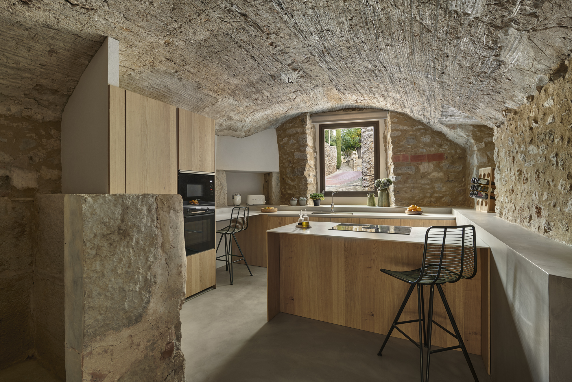 Cozinha de uma das casas / TRONC3