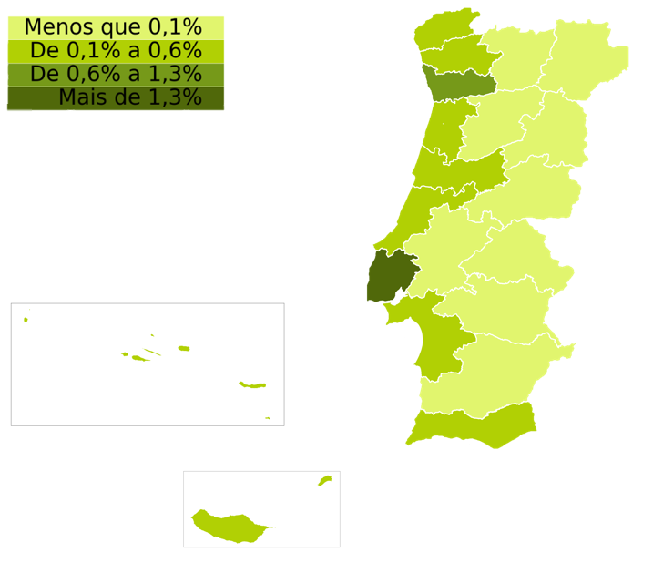 Indicador de stock de arrendamento por distrito / Fonte: idealista/data