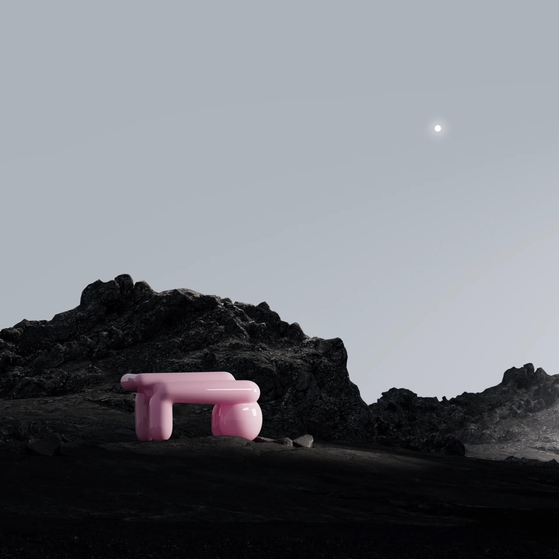 Pink table / Andrés Reisinger