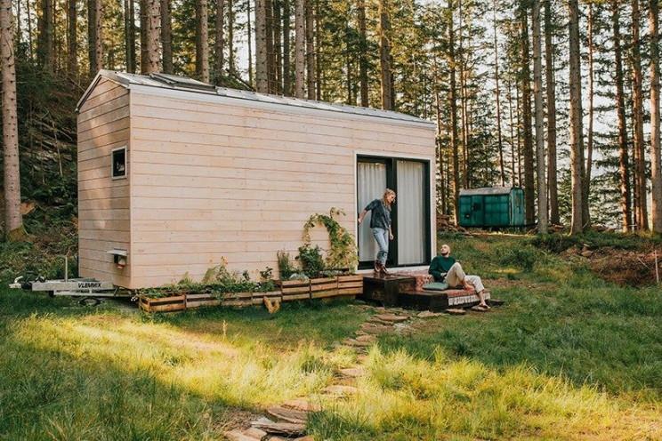 Casa pré-fabricada de madeira portátil