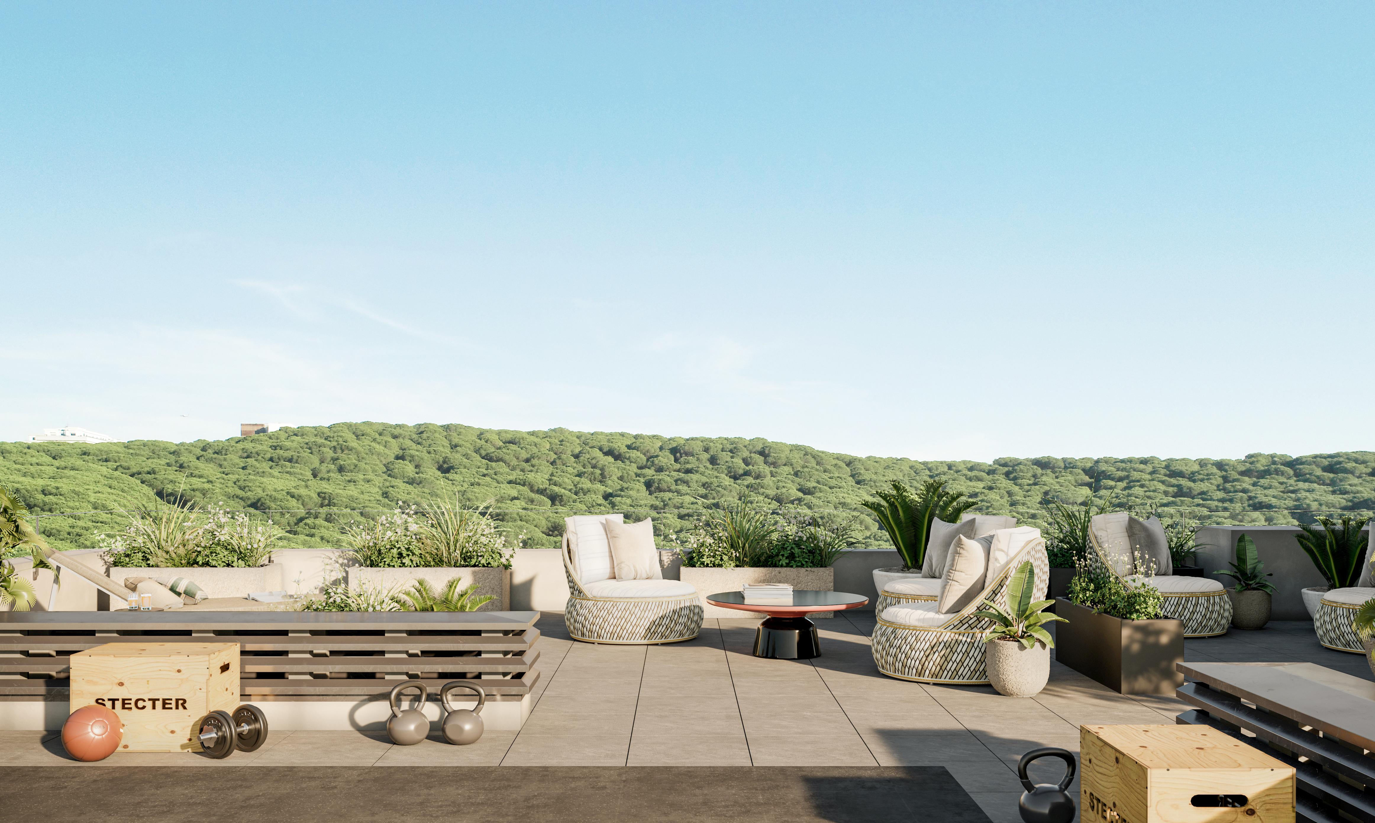 "Vista norte do ""Rooftop"" / Solyd Property Developers"