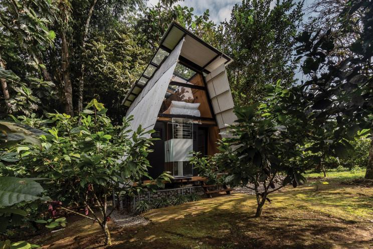 Casa pré-fabricada totalmente sustentável no Equador