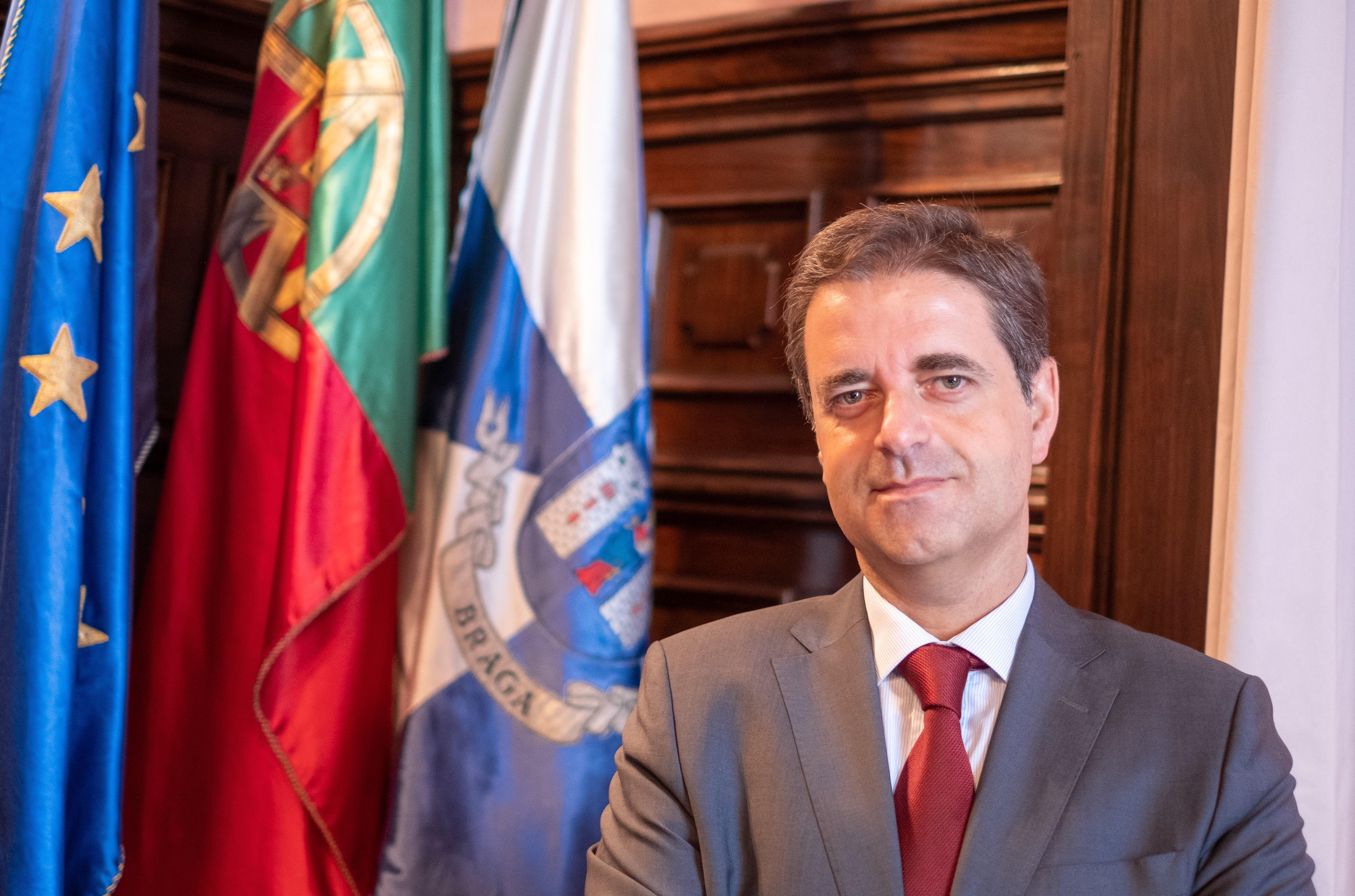 Presidente, Ricardo Rio. / Câmara Municipal de Braga