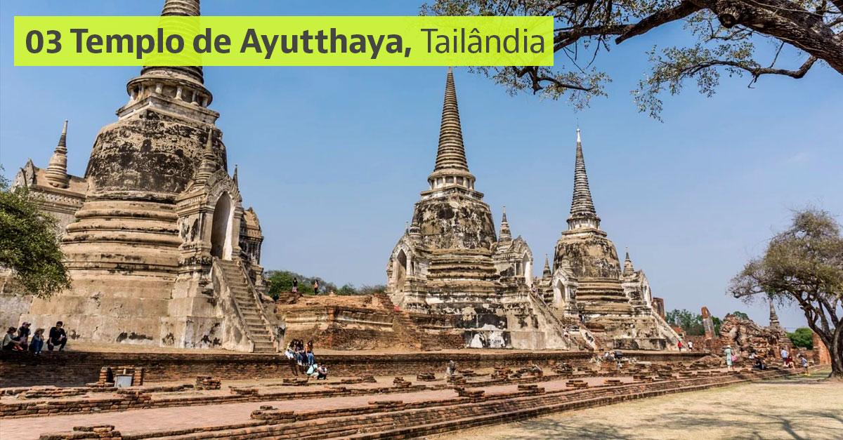 Templo de Ayutthaya, Tailândia