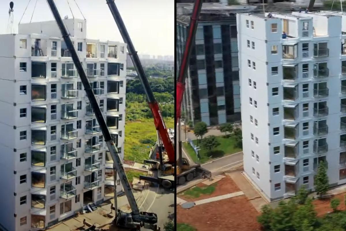 Chinesa constrói bloco de apartamentos de 11 andares em 29 horas