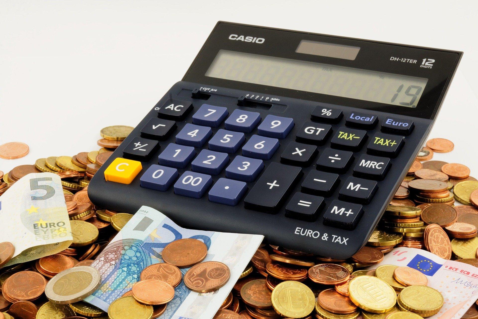 Calculadora e euros