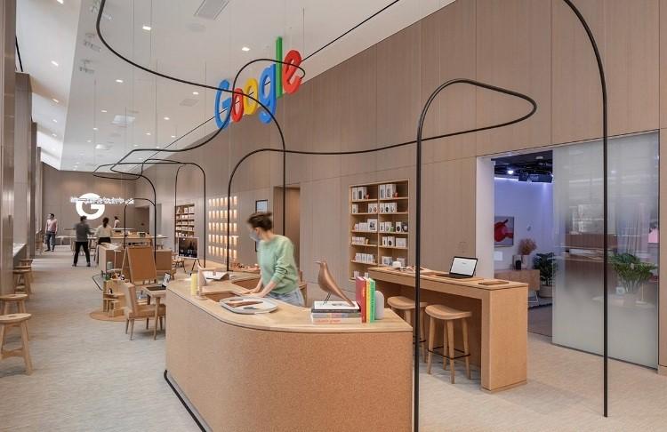 Google Retail Store decorada com cortiça portuguesa