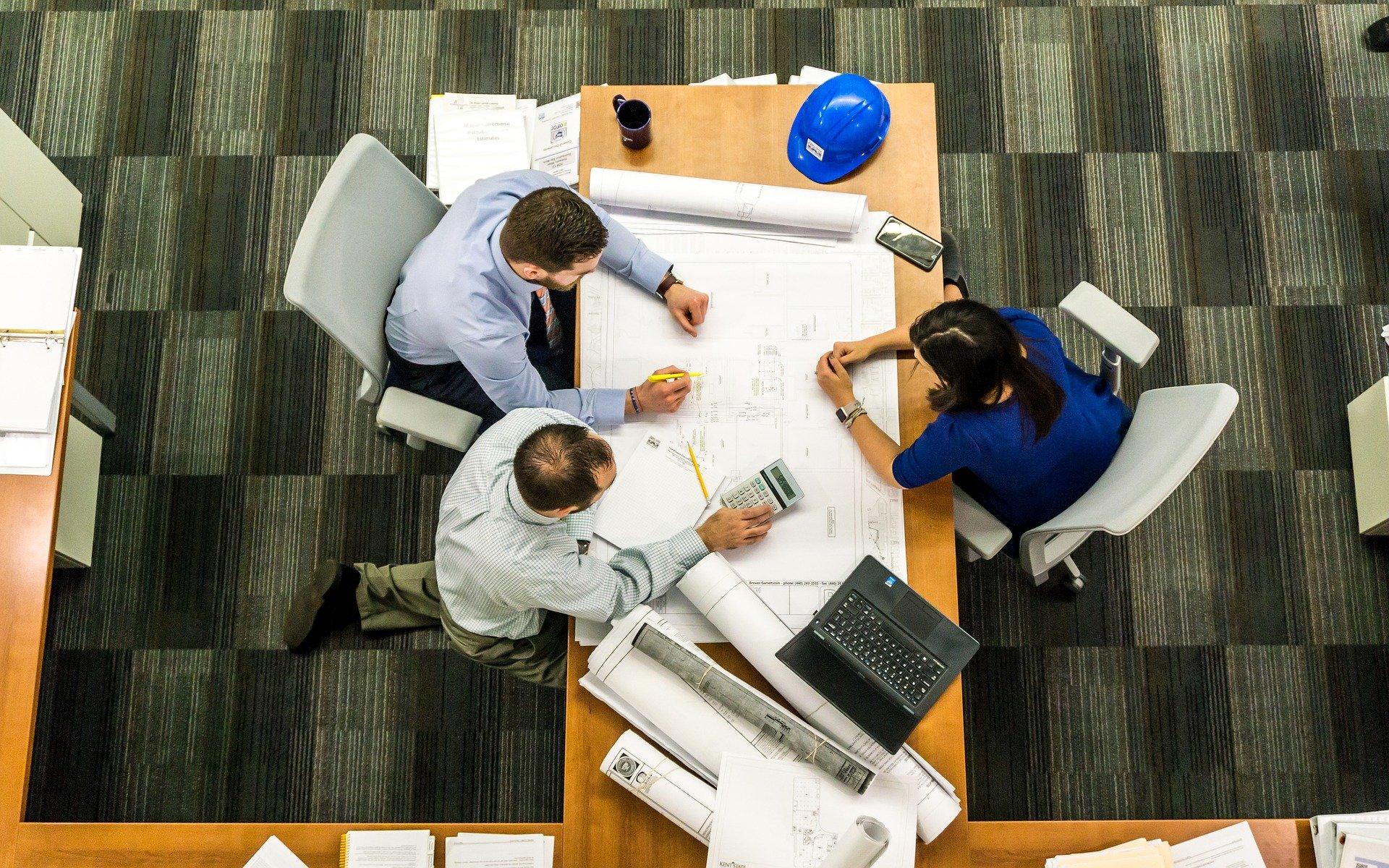Reunião num escritório