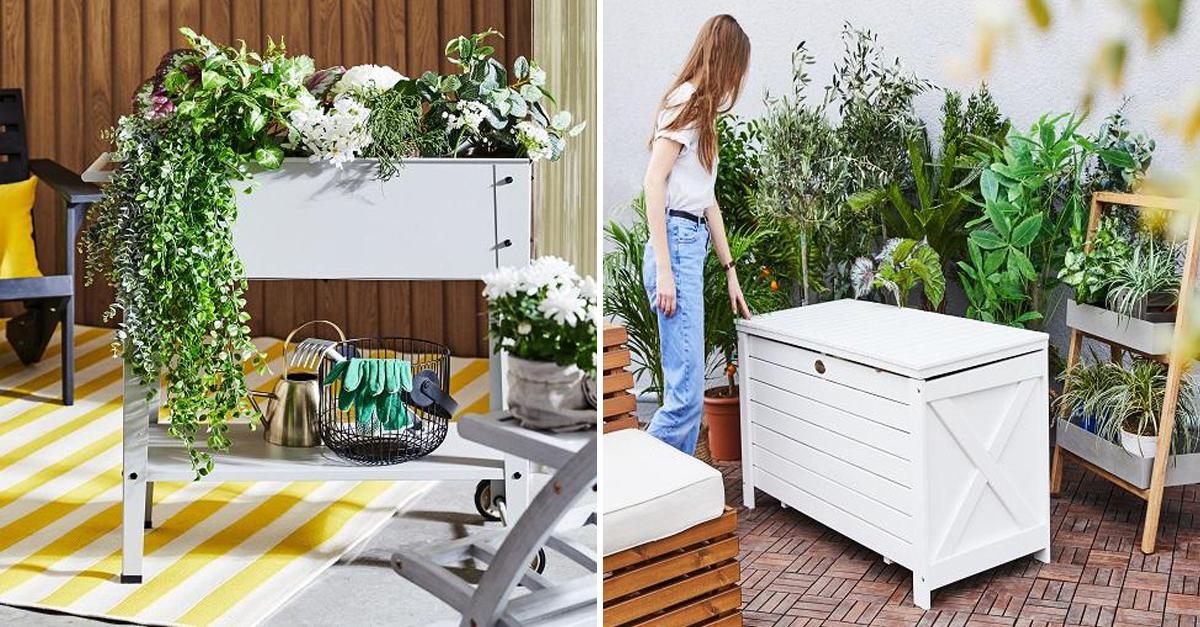 Decoração de exteriores com plantas