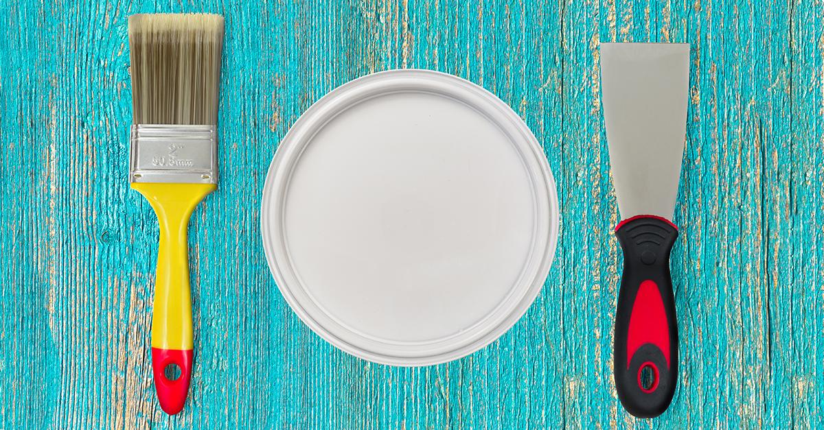 Materiais para pintar móveis