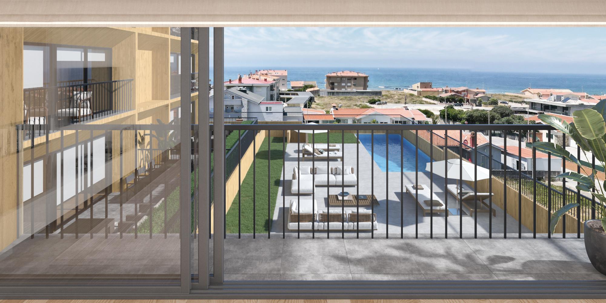 Casas novas com varanda