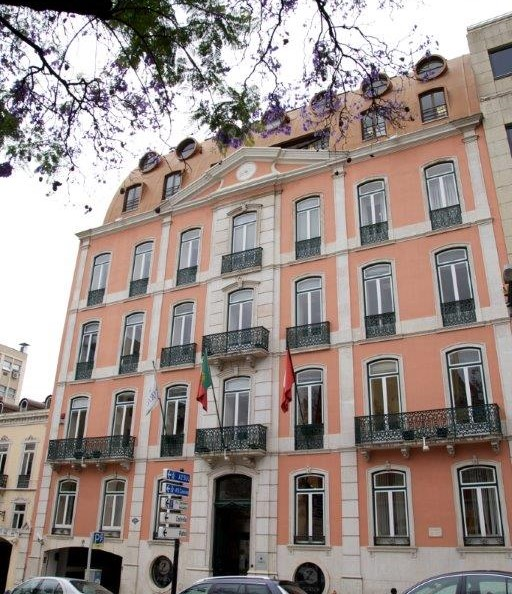 Fachada do Edifício Zurich na Rua Barata Salgueiro em Lisboa