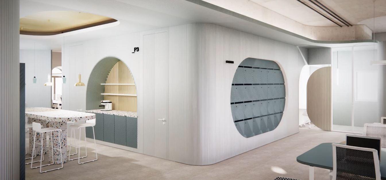 Novo escritório (interior) / Imagem retirada vídeo Zurich