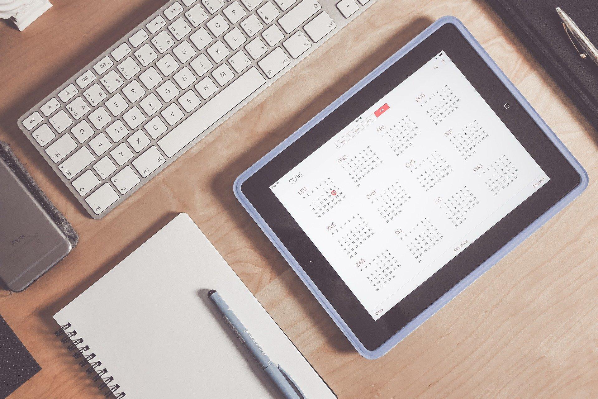 Calendário e agenda