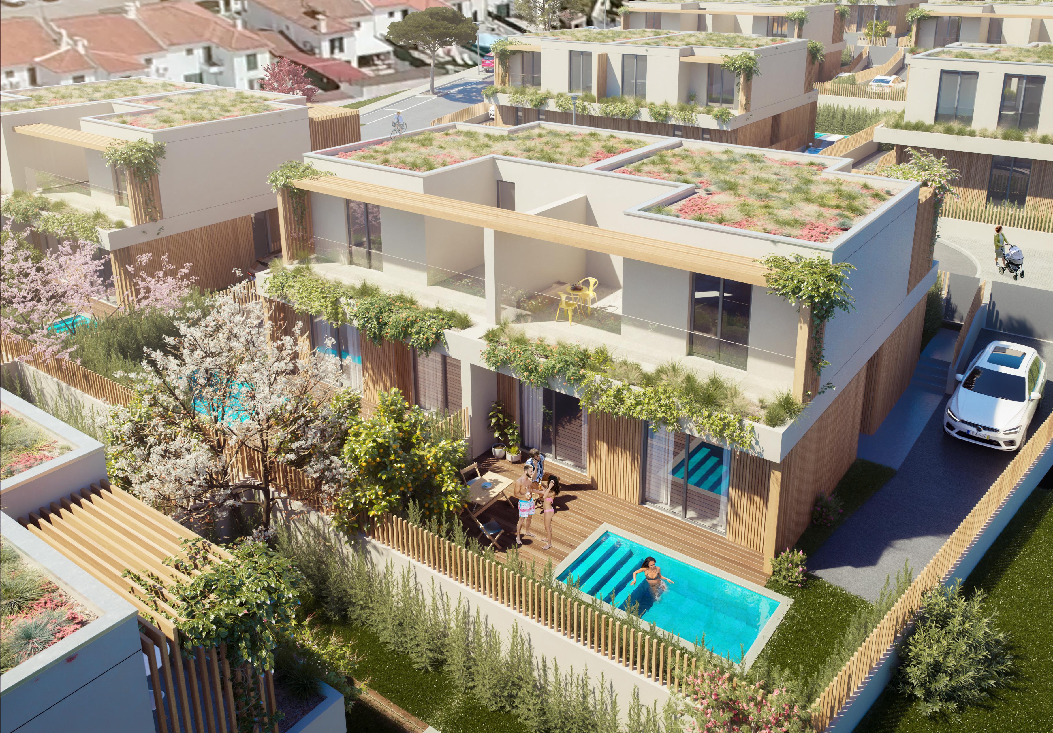 Empreendimento de luxo Gaia traz a Sesimbra 32 moradias ecológicas com piscina