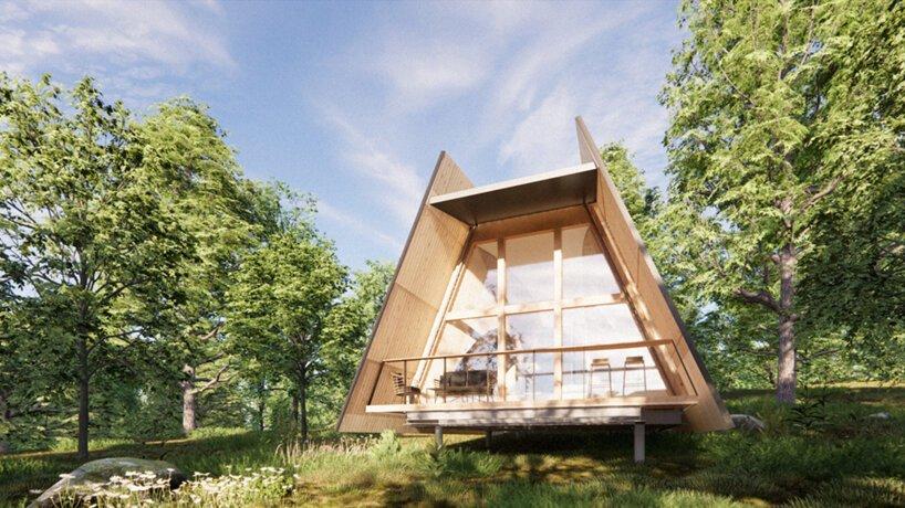 Casas pré-fabricadas para teletrabalhar