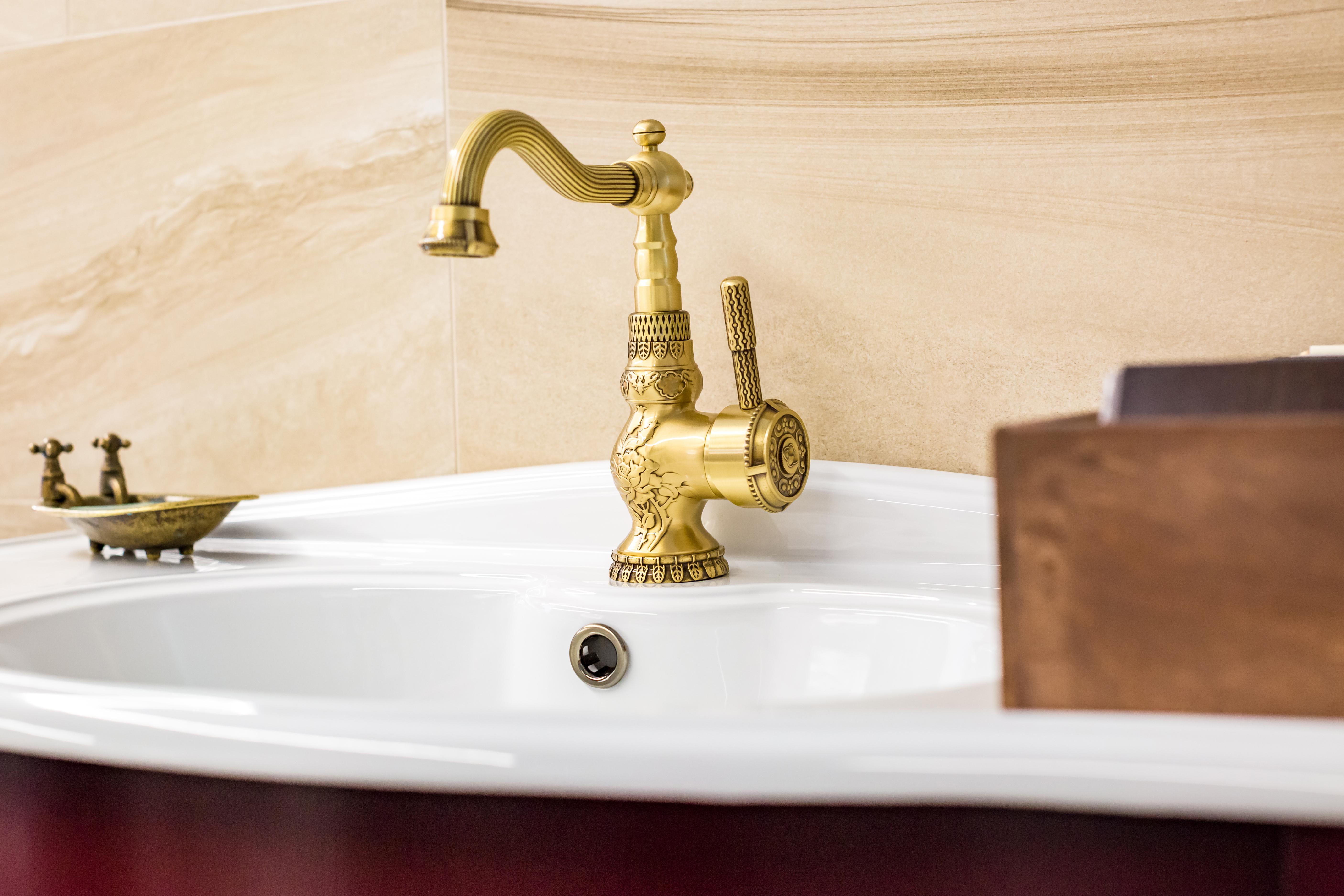 Detalhes nas casas de banho vintage