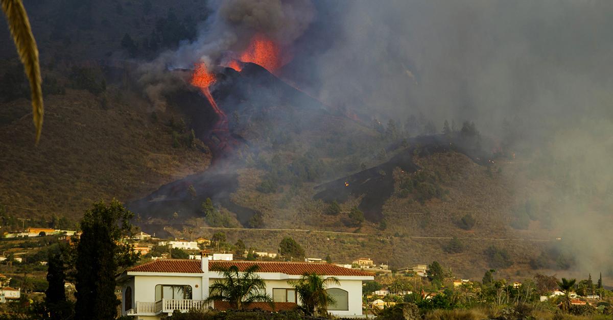 Vulcão nas Canárias