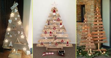 Árvores de Natal de madeira ou como decorar a casa de forma original e sustentável