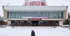 A particular arquitetura comunista que ainda sobrevive em muitas cidades da Sibéria