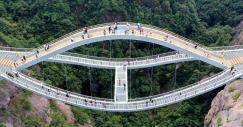 Assim é a incrível ponte Ruyi na China: perfeita para corajosos e amantes da arquitetura impossível