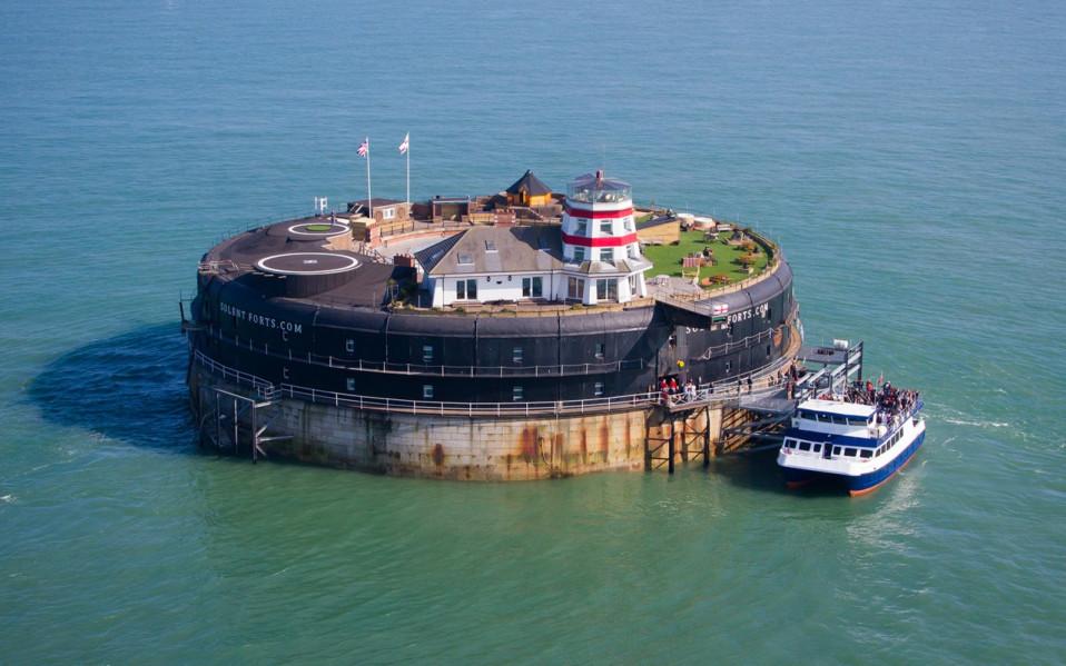 Vista aérea do No Man's Fort