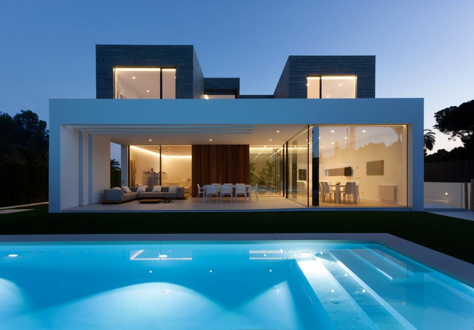 A casa fica em Valência, Espanha