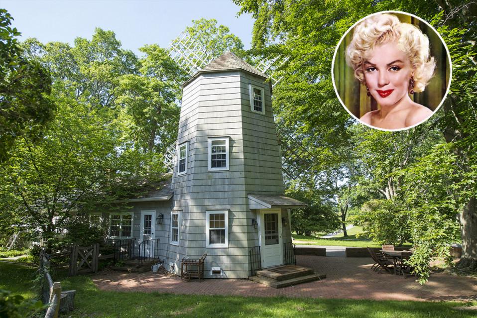 A atriz viveu nesta casa em 1957