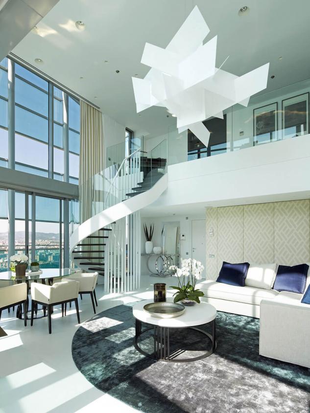 Uma penthouse com vistas espetaculares