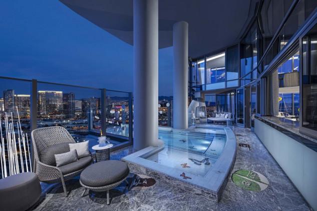 A suíte possui 2.300m² (Foto: Palms Casino Resort)