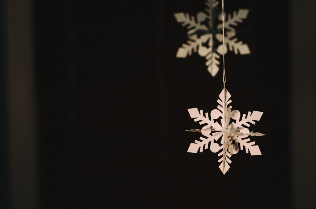 Floco de neve em cartão