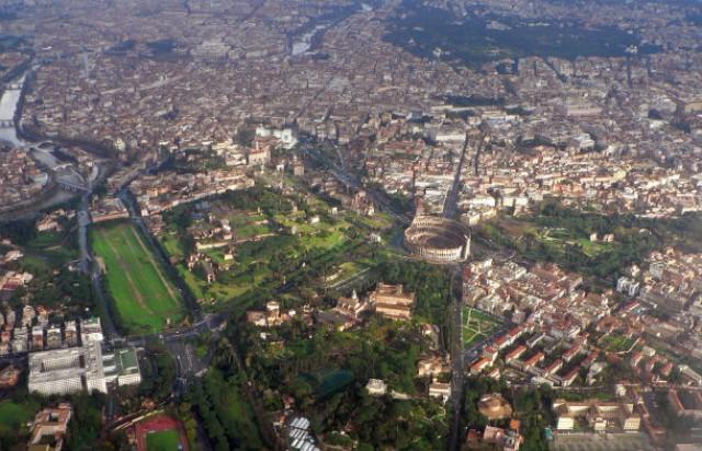 vista aérea do centro de roma
