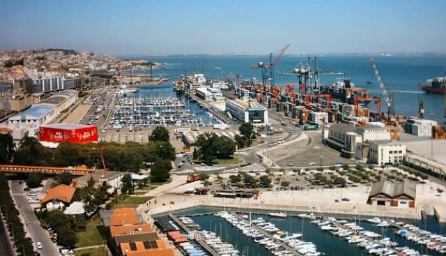 vista panorâmica actual do porto de lisboa