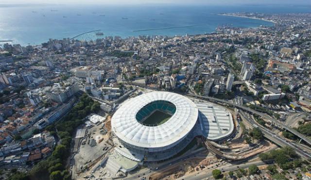 novo estádio itaipava arena fonte nova foi inaugurado dia 5 de abril