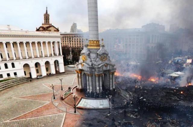 A Praça da Independência recebeu este nome quando a Ucrânia se tornou independente (foto: Reddit).