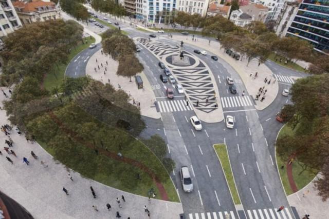 Projeto para a futura Praça do Saldanha (Foto: Público).