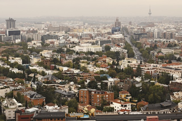 Vista panorâmica sobre Madrid.