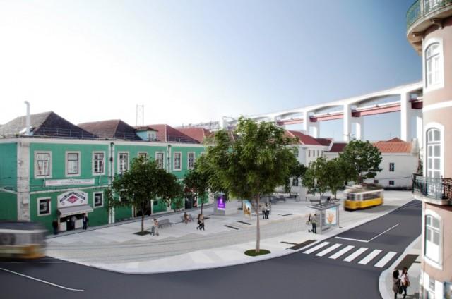Obras no Largo do Calvário já arrancaram (Fotos: CML).