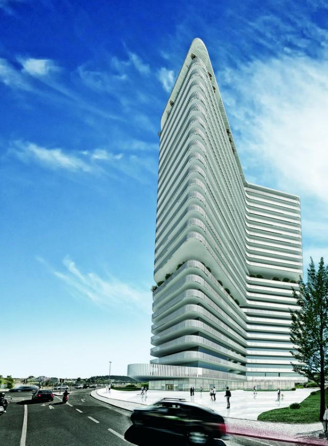 Edifício (imagem 3D) foi projetado pelo arquiteto Miguel Saraiva. / Expresso