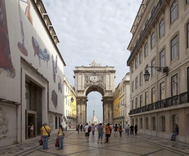 """O """"quarteirão"""" situa-se em plena Baixa lisboeta / Wikimedia commons"""
