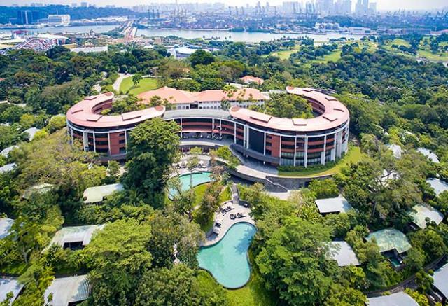 Vista panorâmica do hotel