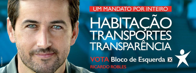 Cartaz de campanha de Ricardo Robles / Twitter