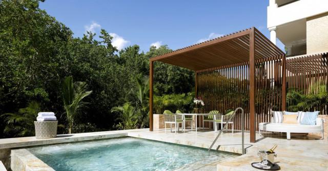 O hotel está localizado na Riviera Maya