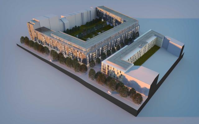 Maquete do projeto imobiliário / TPG Real Estate e Round Hill Capital
