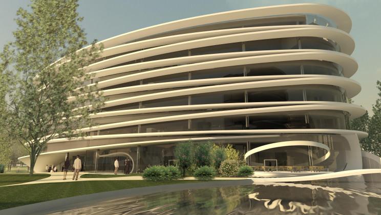 O edifício ICON Offices, promovido pela Civilria, está em início de construção. / Civilria